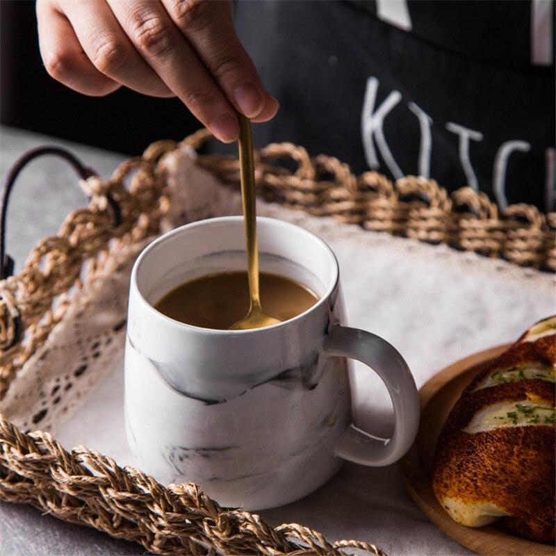 1 stück KINGLANG Keramik Kurze Stil Marmor Muster Tasse Keramik Wasser Tasse Milch Becher Kaffee Becher Liebhaber Geschirr