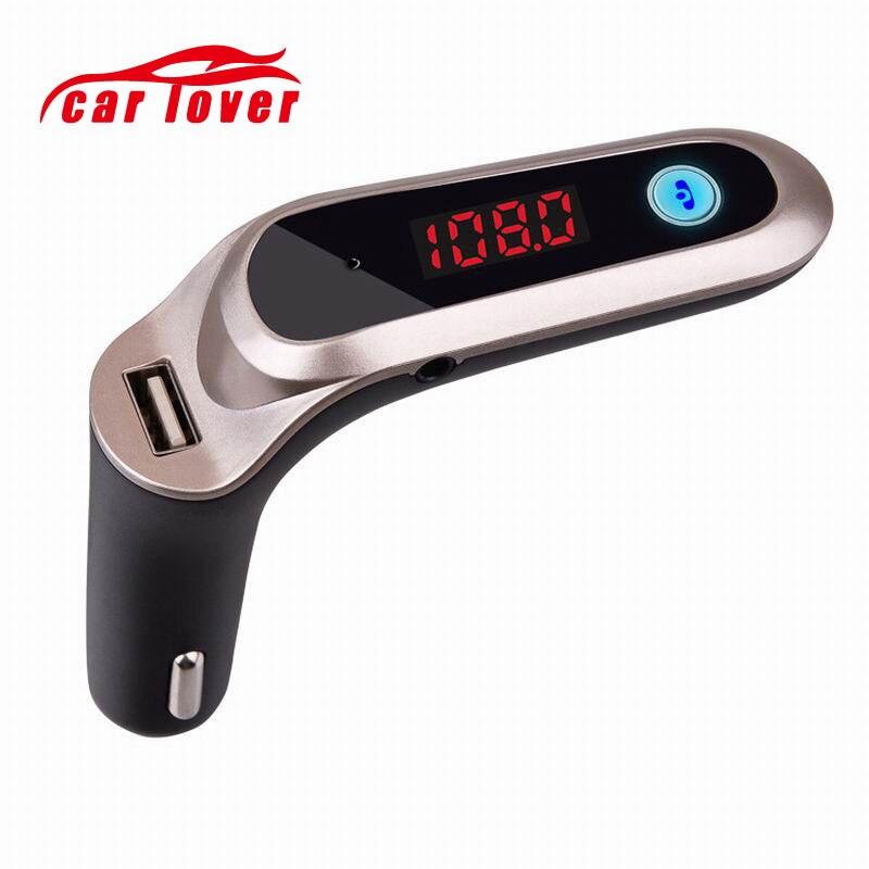 Universal Transmissor FM 2.1A USB Modulador Kit Mãos Livres Bluetooth Car Kit S7 MP3 Player Display Digital de Apoio TF Cartão de Carga Do Carro