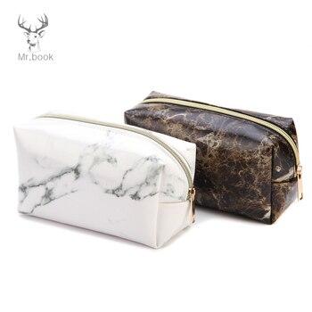 Marble Pencil Case for Girls Boy Portable Makeup Storage Cosmetic Bag Pencil Box Pencil Bag School Supplies Stationary фото