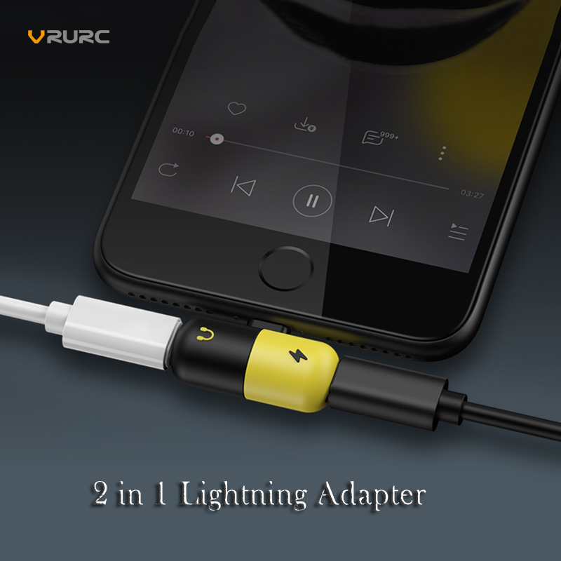 VRURC 2 in 1 for Lightning Adapter For iPhone X 10