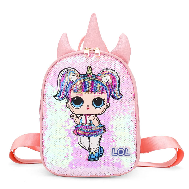 Doll-Bag Backpack Rucksack Unicorn Outing Surprise Holographic Girl New Cute Lol Kids