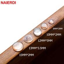 NAIERDI 40-80 шт дверные упоры самоклеющиеся силиконовые накладки для шкафа бамперы Резиновый Буфер Заслонки Подушка мебельная фурнитура