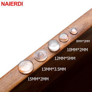 NAIERDI 40-80 PCS Furniture Hardware Door Stops Self adhesive Silicone Pads