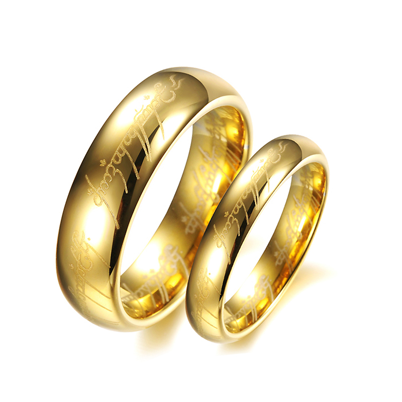 JEXXI High Quality Couple Rings For Lover Women Men Gold Pated Wedding Engagement Finger Rings Set Fashion Bridal Jewelry