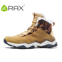 RAX Mens Winter Hiking Boots Mountain Breathable Hiking Shoes Fleece Walking Boots Snowproof Hiking Boots Outdoor Trekking Shoes