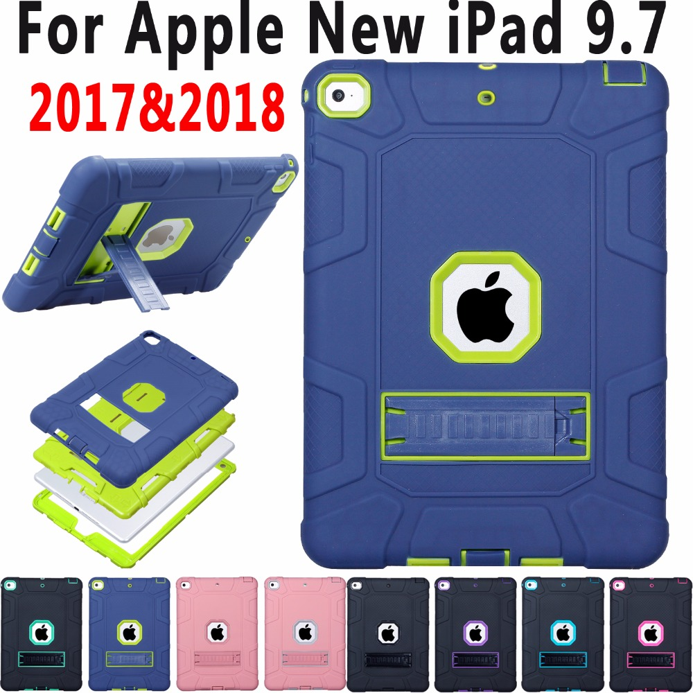 Heavy Duty Kids Safe Silicon Case for iPad 9.7 2018 A1893 with Stand Hybrid Tablet Protector for New iPad 9.7 Case A1822 A1823 silicon hybrid plasmonic waveguides