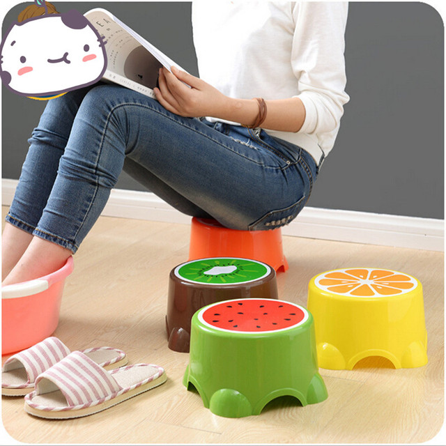 Lovely Cartoon fruit Living Room Small Plastic Stool Thick Non ...