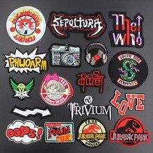 Fashion Rock Band Musik Setrika Patch Kreatif Lencana untuk Kain Punk  Menakjubkan Bordir Patch DIY Bordiran adfc47e351