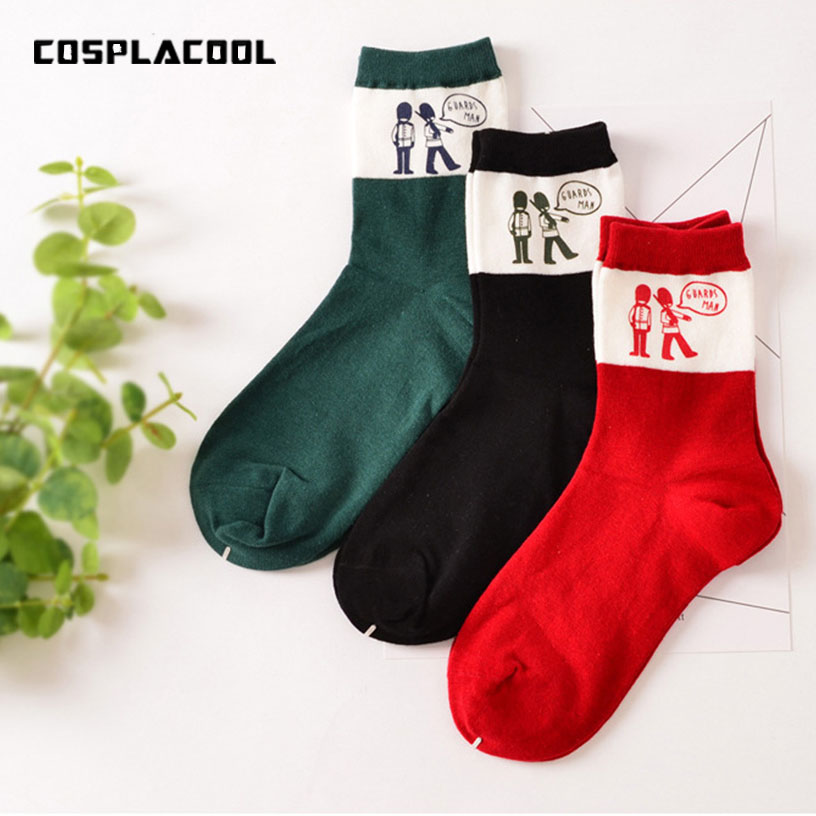 [COSPLACOOL]Korean creative novelty meias personalized printing cotton socks harajuku cartoon cute christmas calcetines mujer ...