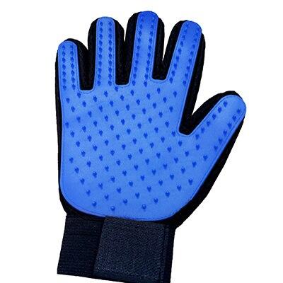 Силиконовая щетка для животных перчатка для ухода за домашними животными мягкая эффективная перчатка для ухода за собаками ванна для кошек товары для уборки домашних животных перчатка аксессуары для собак - Цвет: blue