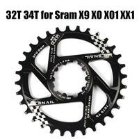狭いワイド 70 グラム 32 t/34 t 自転車ギア中央ロック CNC AL7075 アルミ MTB マウンテンバイクチェーンホイール Sram GXP -