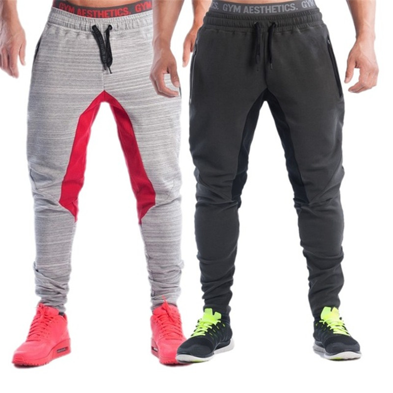 2016 Slim Cotton Male Pants Sweat Pants Men Aesthetics Pan Wear For Runners Gray Clothing Thin Joggers Sweat Trousers Boys