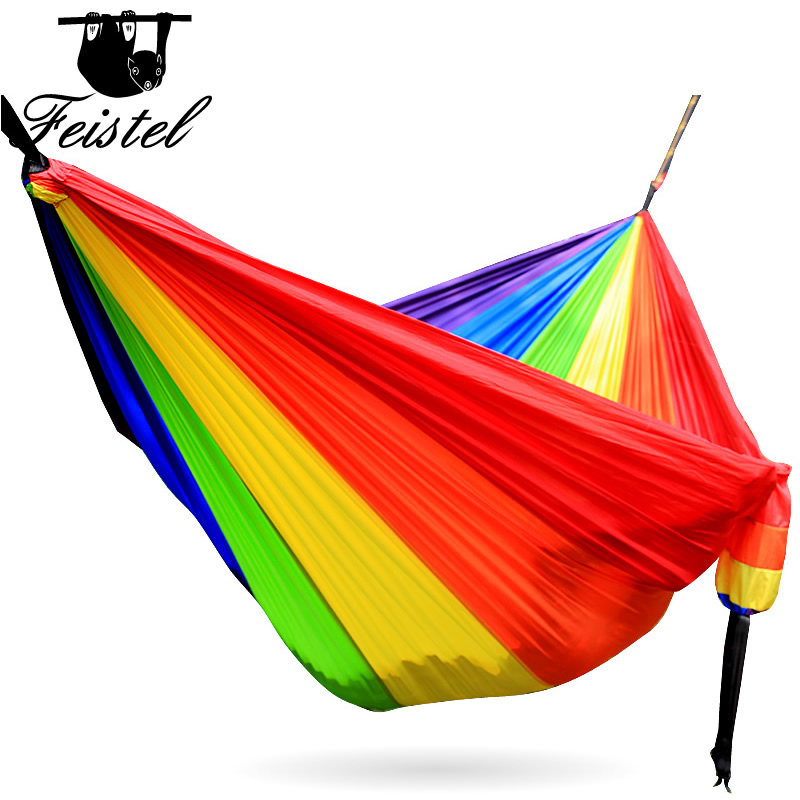 Portable Hanging Hammock Chairs For Camping Outdoor Hammocks Tent on Stand with Tree Straps Garden Swings Chair Sleeping Gear