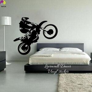 Настенные наклейки для мотокросса, для спальни, для мальчиков, для помещений, для грязного велосипеда, для мотоцикла, для велосипеда, настен...