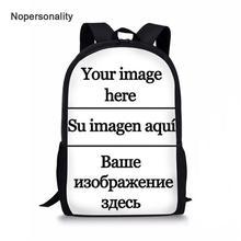Custom Your Name Image School Bag Cartoon Kids Schoolbag for Teenager Boys Girls Cool Children Backpack Bookbag Mochila Escolar недорого