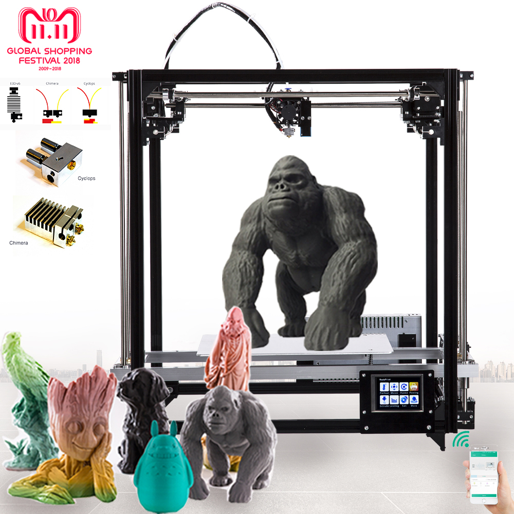 Flsun 3D Printer Dual Extruder Version Large Printing Size 260*260*350mm Auto Leveling Heated Bed Touch Screen Wifi Moduel flsun delta kossel 3d printer pre assembled touch screen wifi module support large printing area 260 260 370mm