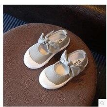 Canvas Bow Girls Princess Shoes