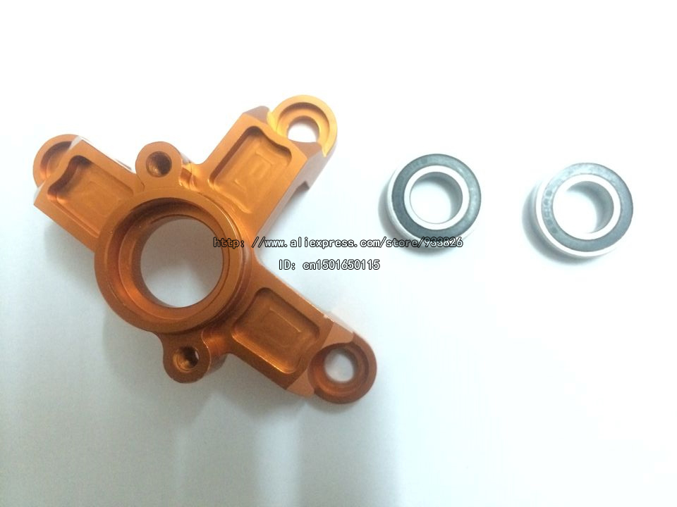 ФОТО Free Shipping Rovan KM baja CNC Alloy Clutch Bell Housing Carrier Mount Orange 11089