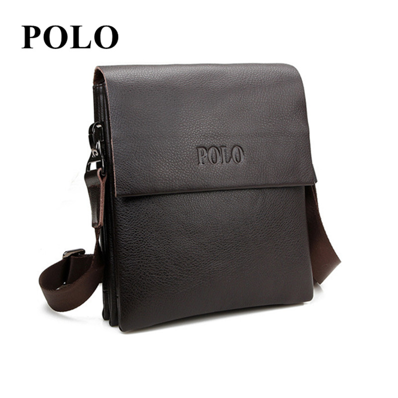 New POLO Famous Brand cow Leather Men Bag Casual Business genuine Leather Mens Messenger Bag Vintage Men's Crossbody Bag male