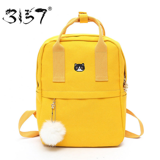 3157 Cute Backpacks Women Nylon Large School Bags For Teenage Girls