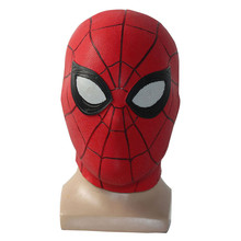 Spider-Man: Far From Home Costume Mask Halloween Party Tom Holland Movie Cosplay  Adult Spider man Latex