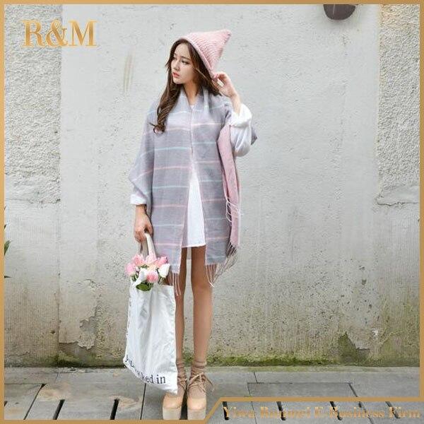 2016 winter acrylic cashmere font b tartan b font plaid scarf brand blanket shawl designer pashmina