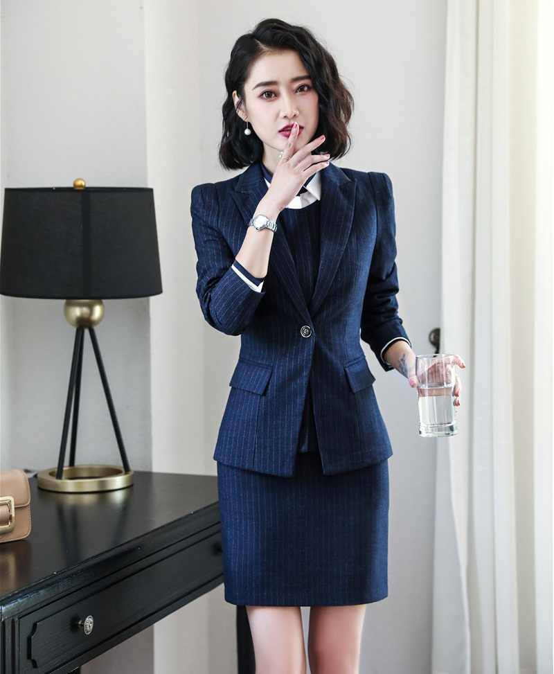 a00fa79fb5 ... 2019 Winter Formal Elegant Women s Ladies Business Blazers Suits 3  Piece Waistcoat