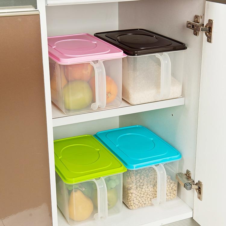 Plastic Food Storage Box Cabinets Refrigerator Creative