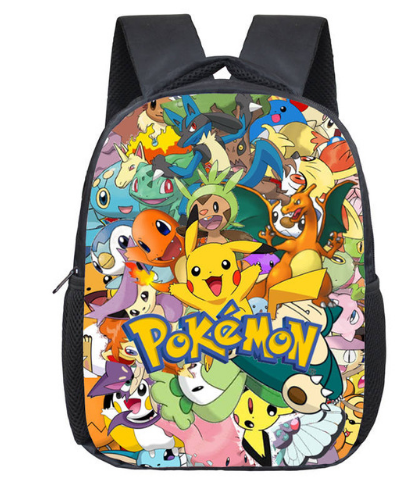 12 Inch Pokemon Pikachu Haunter Eevee Monster Kindergarten School Bags Bookbags Children Baby Toddler bag Kids Backpack Gift pokemon pikachu haunter eevee bulbasaur canvas backpack students shoulders bag pocket monster haunter schoolbags laptop bags