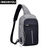 DINGXINYIZU Brand Antitheft Men Chest Bag Single Shoulder Strap Back Bags for Women Casual Travel Messenger Bags bolsas feminina