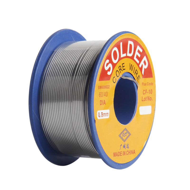 <font><b>Solder</b></font> Wire 0.8mm <font><b>60</b></font>/<font><b>40</b></font> Diamneter Free Clean Rosin Core Low Melting Point High Brightness Soldering Tools image