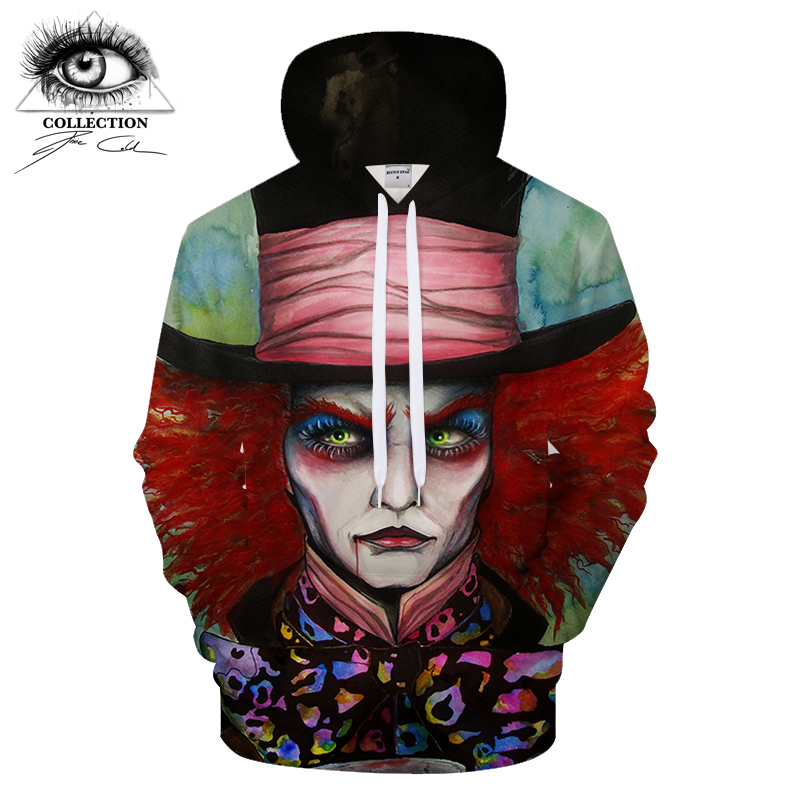 Mad Hatter by Pixie cold Art Funny 3D Hoodies Men Sweatshirts Unisex Hoodies Brand Pullover Tracksuits Drop Ship ZOOTOP BEAR