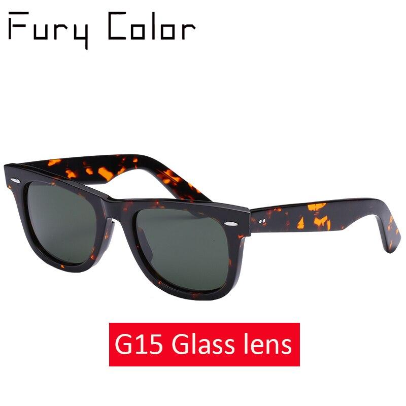 Real Glass lens HD retro Acetate luxury brand sunglasses wom