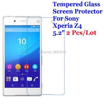 """2 unids/lote para Sony Xperia Z3 + Z3 Plus de vidrio templado 9 H 2.5D Premium de película Protector de pantalla para Sony xperia Z4 E6533 E6553 5,2"""""""