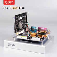 цена на QDIY PC-ZB01 Mini ITX New Personalized Opening Aluminum Alloy Motherboard Platform Bracket Frame Chassis