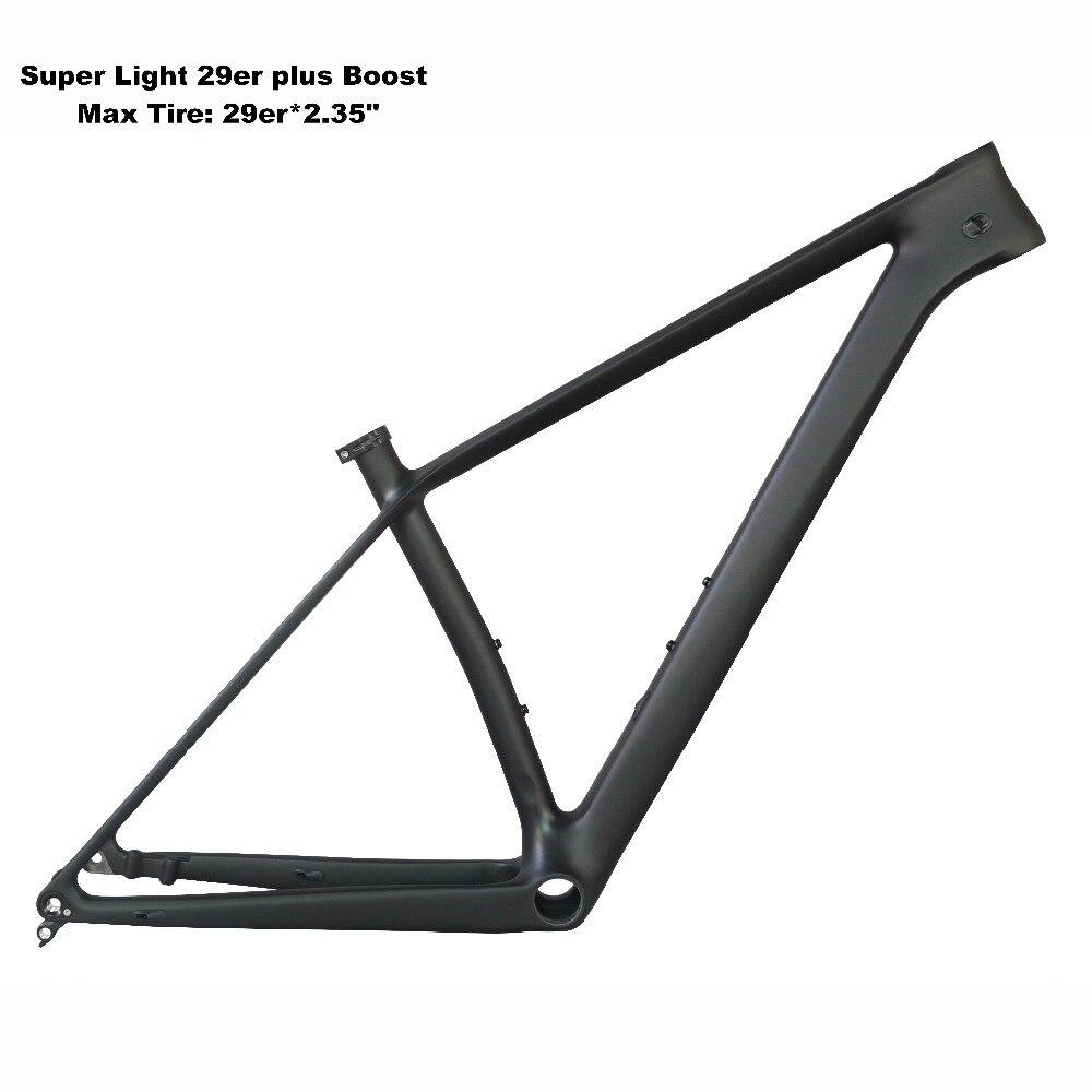 2019 carbone Cadre De Vélo de Montagne 29er Boost avec BB92 avec 29er * 2.35 pneu fm199-B-SL Cadre et 29er * 3.0 FM299-B-SL