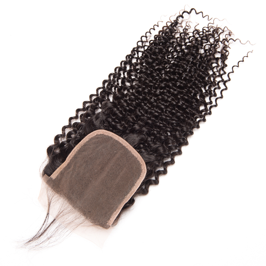Oxeye Girl Kinky Curly Weave Human Hair Lace Closure With