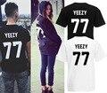 Французский логотип YEEZY 77 100% хлопок мужчины майка HBA пирекса 23 личности на заказ принт в виде логотипа футболка хип-хоп мода топы и тис