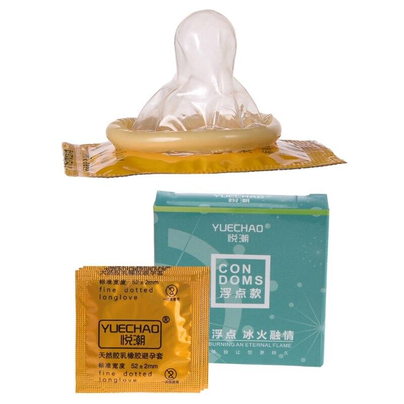 Buy Ultra Thin Dotted Condoms 3pcs/set Big Particle Dotted Ultra Thin G-Point Latex Condoms Men Adult Hot Dropshipping