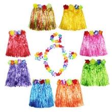 30cm 40cm 60CM Hawaii hula skirt Fashion Show dancing  Grass dress Set Girl Costume for school open party cosplay supplies