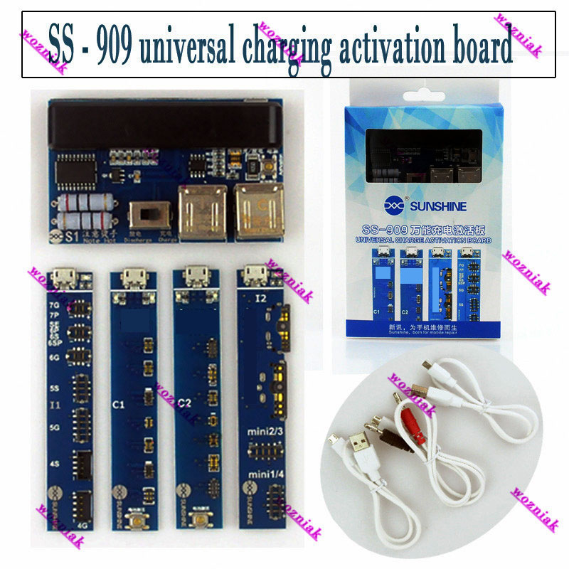 Mobile phone universal battery activation board quick charge PCB tool with USB cable for iPhone for Android phone Send tool светильник настенно потолочный eglo led planet 31254