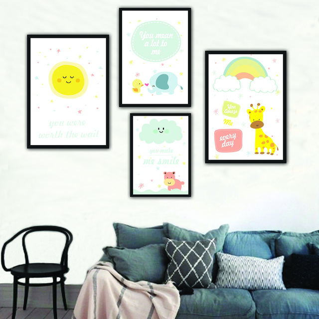 Cut Cartoon Wall Art Painting Canvas Poster Prints Wall Pictures ...