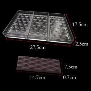 Image 2 - 3D kostki z poliwęglanu batony czekoladowe formy PC Food Grade cukierki formy cukierki czekoladowe ciasto narzędzie