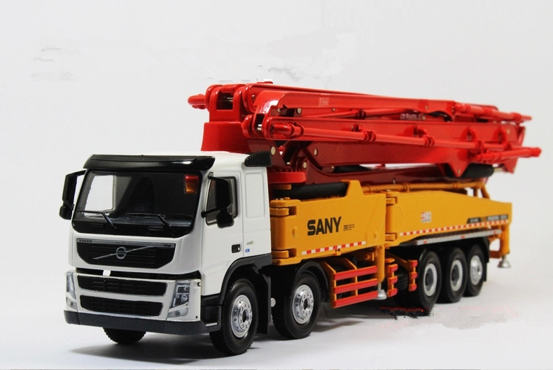 Collectible Alloy Model Gift 1:50 SANY 62m Concrete Pump Truck Volvo Tractor Engineering Machinery DieCast Toy Model Decoration