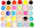 Новый 30 Pure Color Nail Art УФ Гель Твердый Расширение Маникюрный набор Для Builder Польской Лампы Hot! оптовая