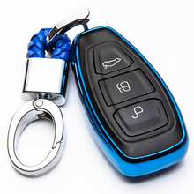 KUKAKEY TPU 3 Buttons Car Key Cover Case For Ford Mondeo Fiesta Focus Titanium Remote Fob Shell Styling Accessories