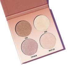 Aurelife Glow Kit shimmer Highlight Contour Palette Highlighter Makeup face Palette glow kit powder illuminator kit maquiagem