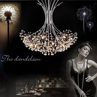 Modern Dandelion LED Crystal Chandelier Pendant Lamp Hanging Lamp LED Dining Room Living Room Lighting Fixture