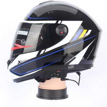 2017 new soft earphone! 2 pcs V6-1200 Pro motorcycle helmet bluetooth headset Intercom for 6 riders BT Interphone Stereo music