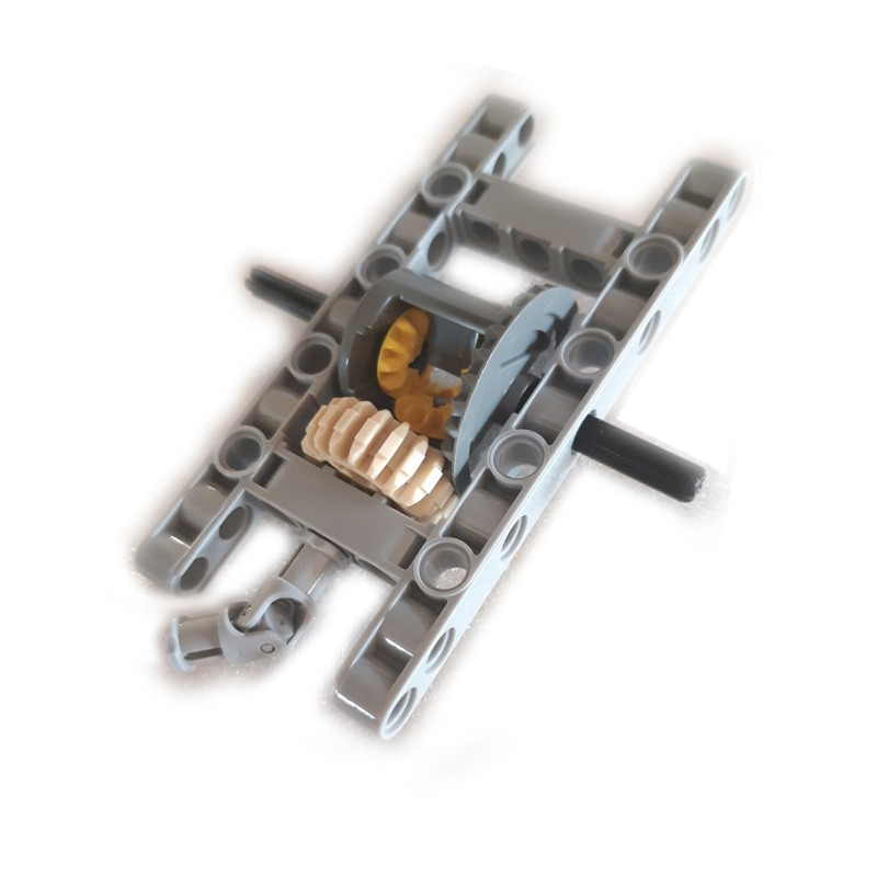 10Pcs Set MOC Technic Bricks Parts FRAMED DIFFERENTIAL GEAR SET Kits Pack Chassis Part DIY Toys For Kids Fit For Technic Cars in Blocks from Toys Hobbies
